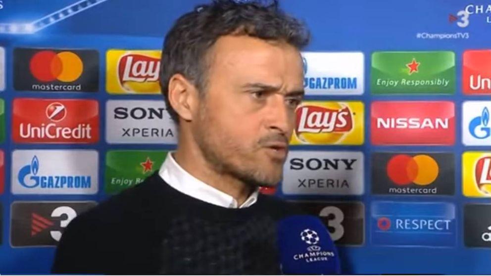 Luis Enrique estalla en TV3 tras la derrota del Barça en Champions