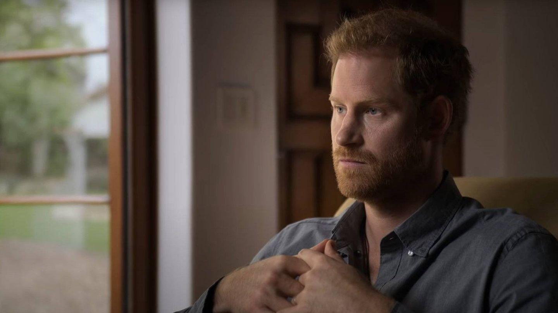 El príncipe Harry, durante el documental. (Apple TV+)