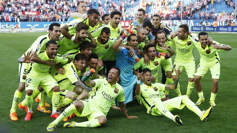 Foto: El Barcelona, nuevo campeón de Liga 2014-15