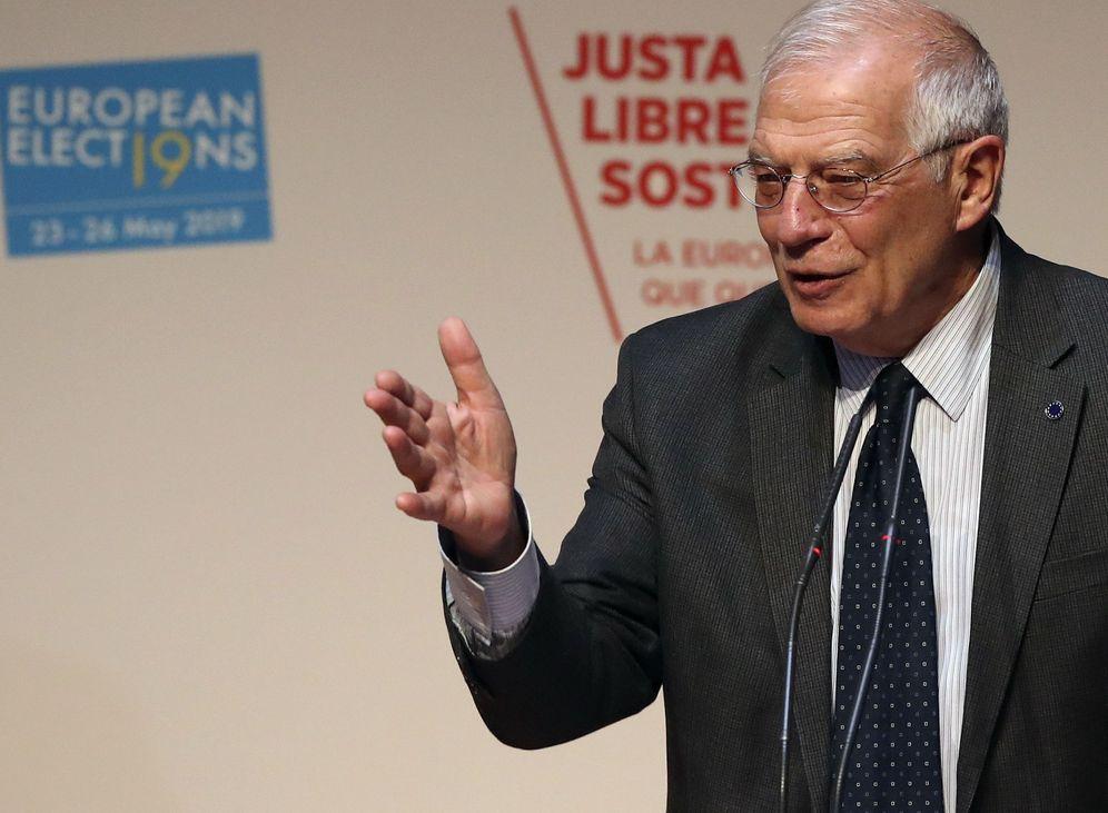 Foto: El ministro de Exteriores, Josep Borrell, este 22 de febrero en la convención del PES, en Madrid. (EFE)