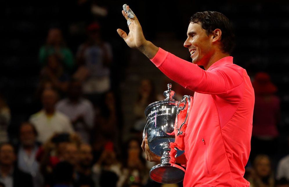 Foto: Rafa Nadal, tras ganar la final del SU Open. (Reuters)