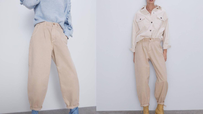 El modelo 'slouchy' de Zara. (Cortesía)