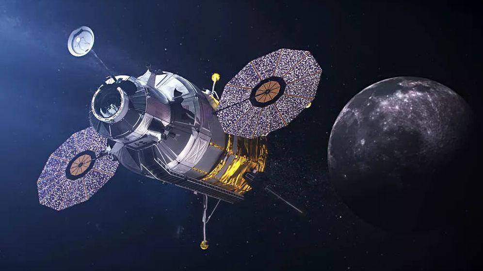 Foto: Así podría ser la Gategay, la estación espacial que orbite alrededor de la Luna (Foto: NASA)