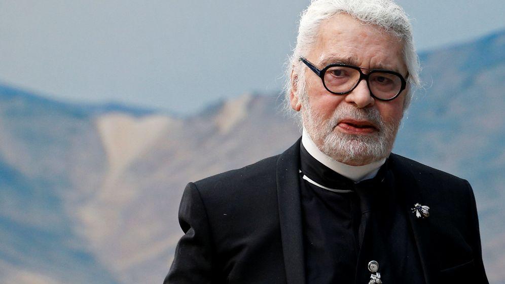 Foto: Karl Lagerfeld, en la Semana de la Moda de París. (Reuters)