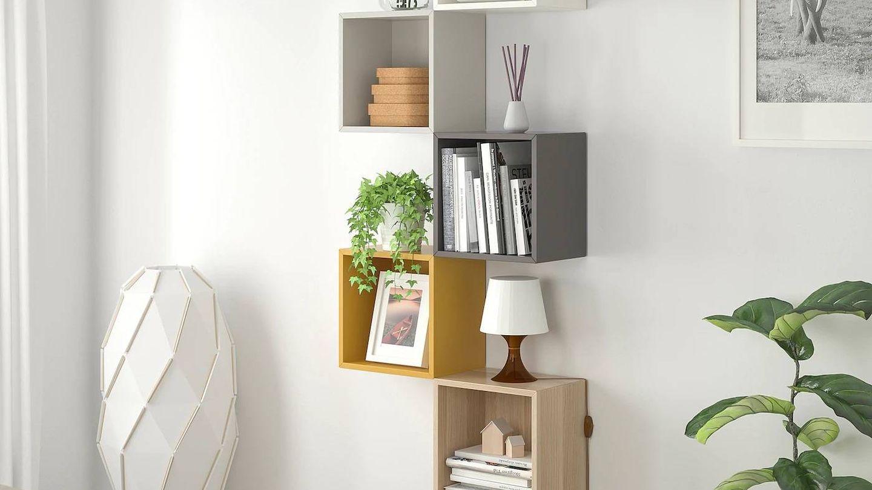 Estantería modular de Ikea. (Cortesía)