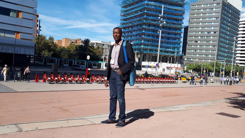 El doctor Hashim Ahmed, en Barcelona. (R. M.)