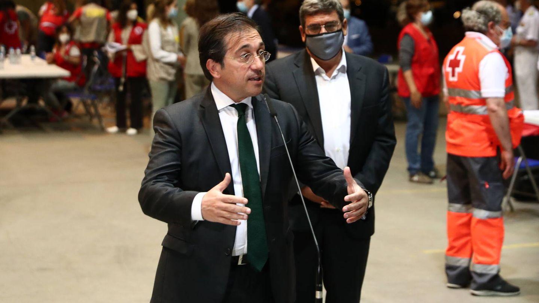 José Manuel Albares junto a José Luis Escrivá en Torrejón.