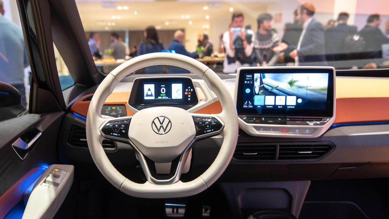 Interior del Volkswagen ID.3 mostrado en Madrid el pasado fin de semana.