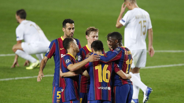 El Barça se sacude la tristeza en Champions (5-1), pero Griezmann tiene un problema