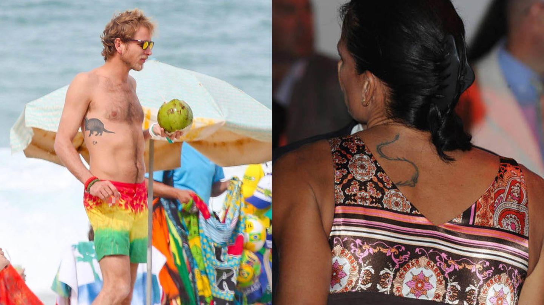 Tatuajes de Andrea Casiraghi y Estefanía de Mónaco. (Cordon Press)