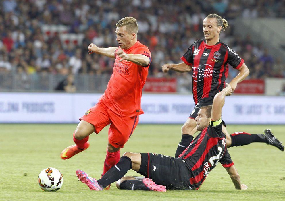Foto: Gerard Deulofeu, durante un amistoso con el Barça esta pretemporada.