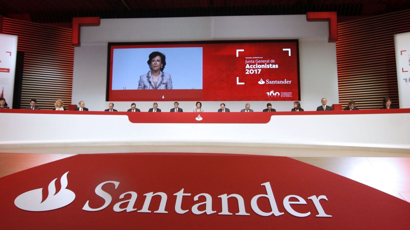 Foto: Última junta de accionistas del Banco Santander. (EFE)
