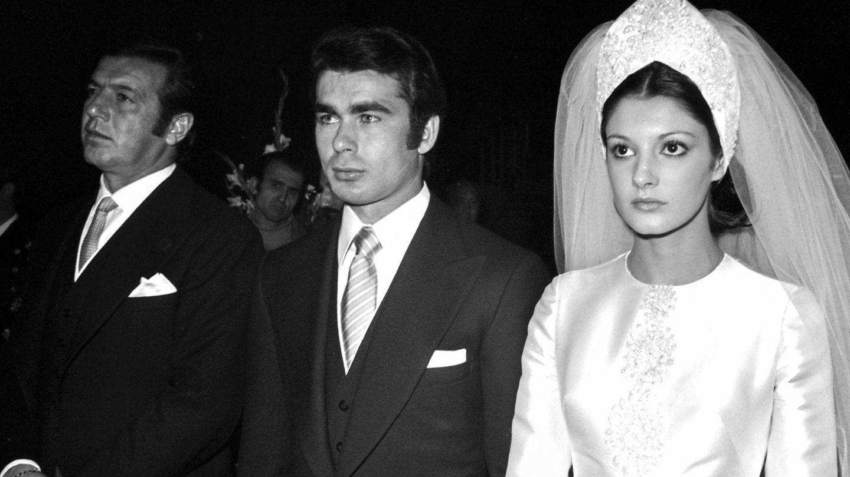 Carmina y Paquirri, el día de su boda. (Getty)