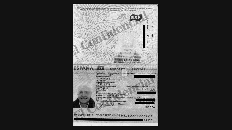 Pasaporte de José Luis Moreno.