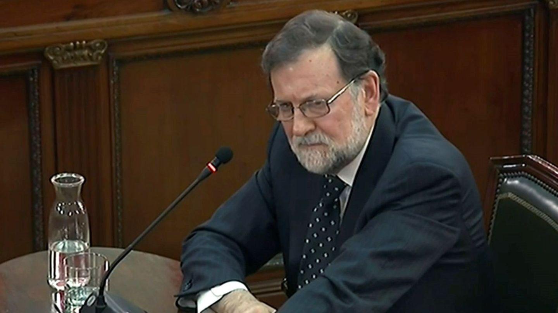 Imagen de la señal institucional del Tribunal Supremo del expresidente del Gobierno Mariano Rajoy. (EFE)