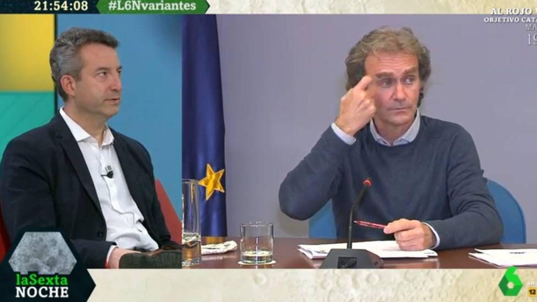 César Carballo y Fernando Simón, en 'La Sexta noche'. (Atresmedia)