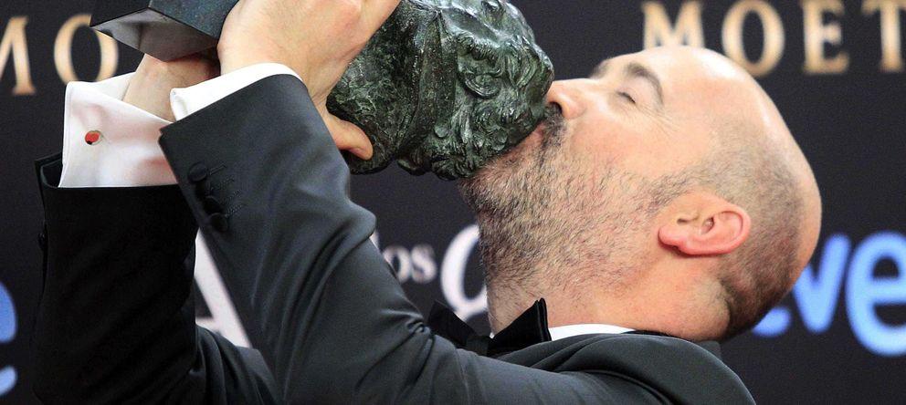 Foto:  El actor Javier Cámara tras recibir el Goya a la Mejor interpretación masculina protagonista. (efe)