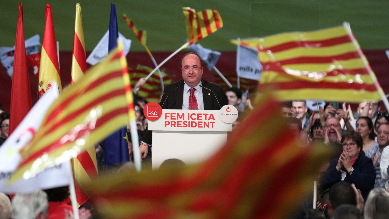 Foto: Iceta, en un acto electoral celebrado en Barcelona. (EFE)