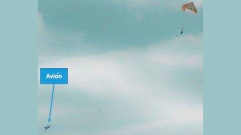 Un hombre se eyecta por error de un avión de combate en pleno vuelo en Francia