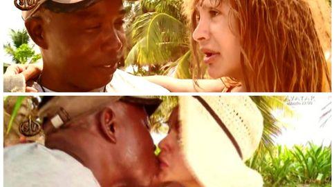 Yurena y Víctor, el garífuna, comparten besos en 'Supervivientes'