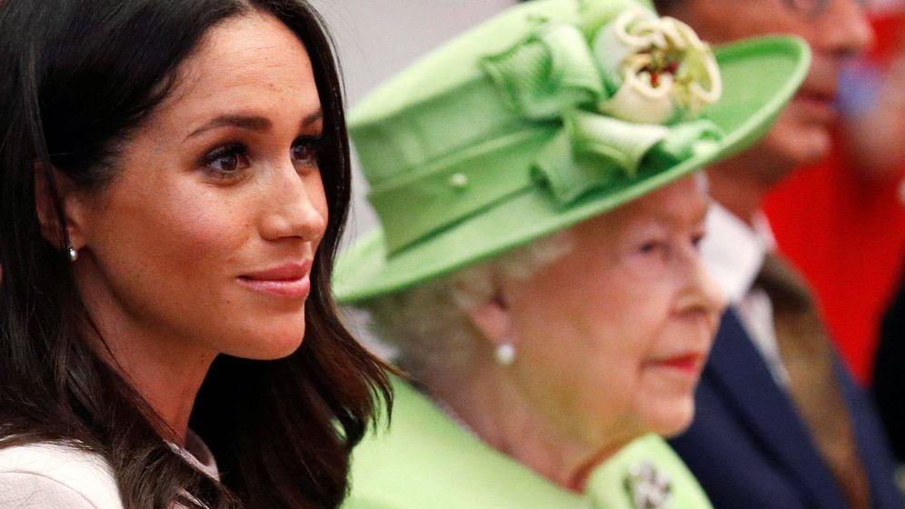 Foto: Meghan y la monarca en una foto de archivo. (Getty)