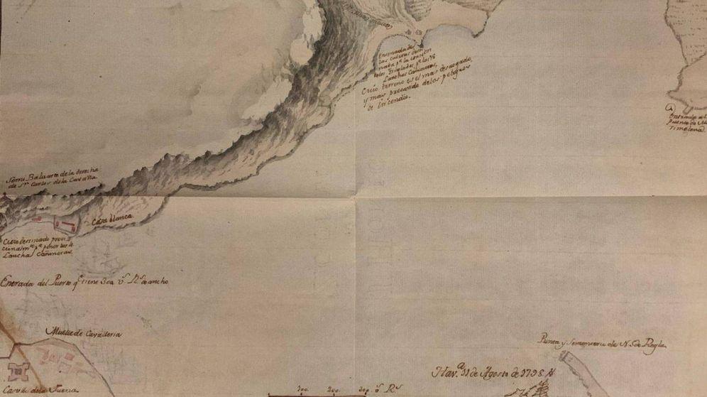Foto: Mapa de la bahía de La Habana de 1798. (Ministerio de Cultura)