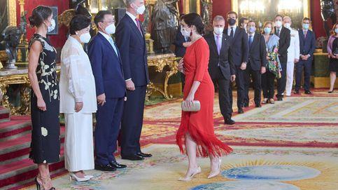 Isabel Díaz Ayuso y su look de flamenca de WhatsApp en la recepción de los Reyes
