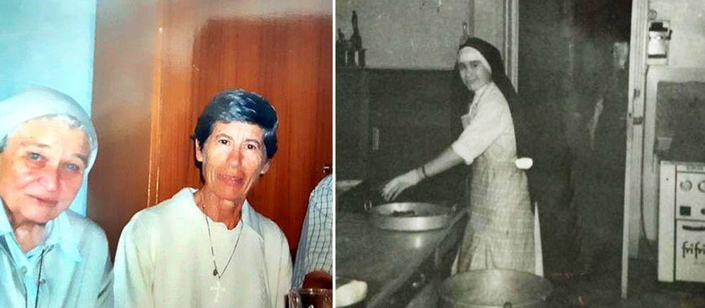 Foto: La misionera española Blanca Nieves Sancho Lope, en el centro y a la derecha.