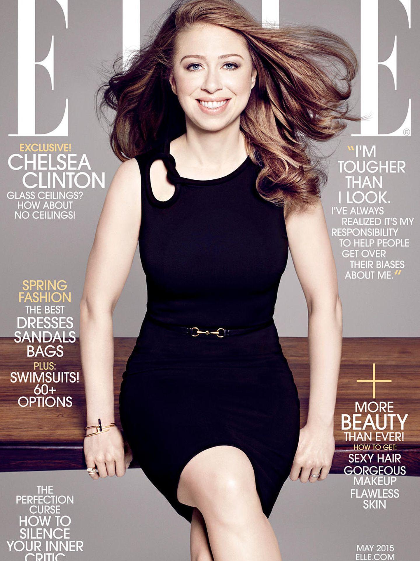 Chelsea Clinton en la portada de la revista 'Elle'