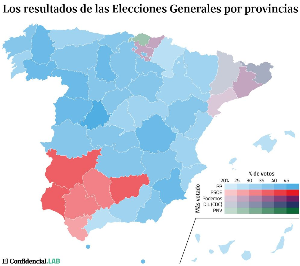 Foto: Resultados de las elecciones generales por provincias (EC Lab)