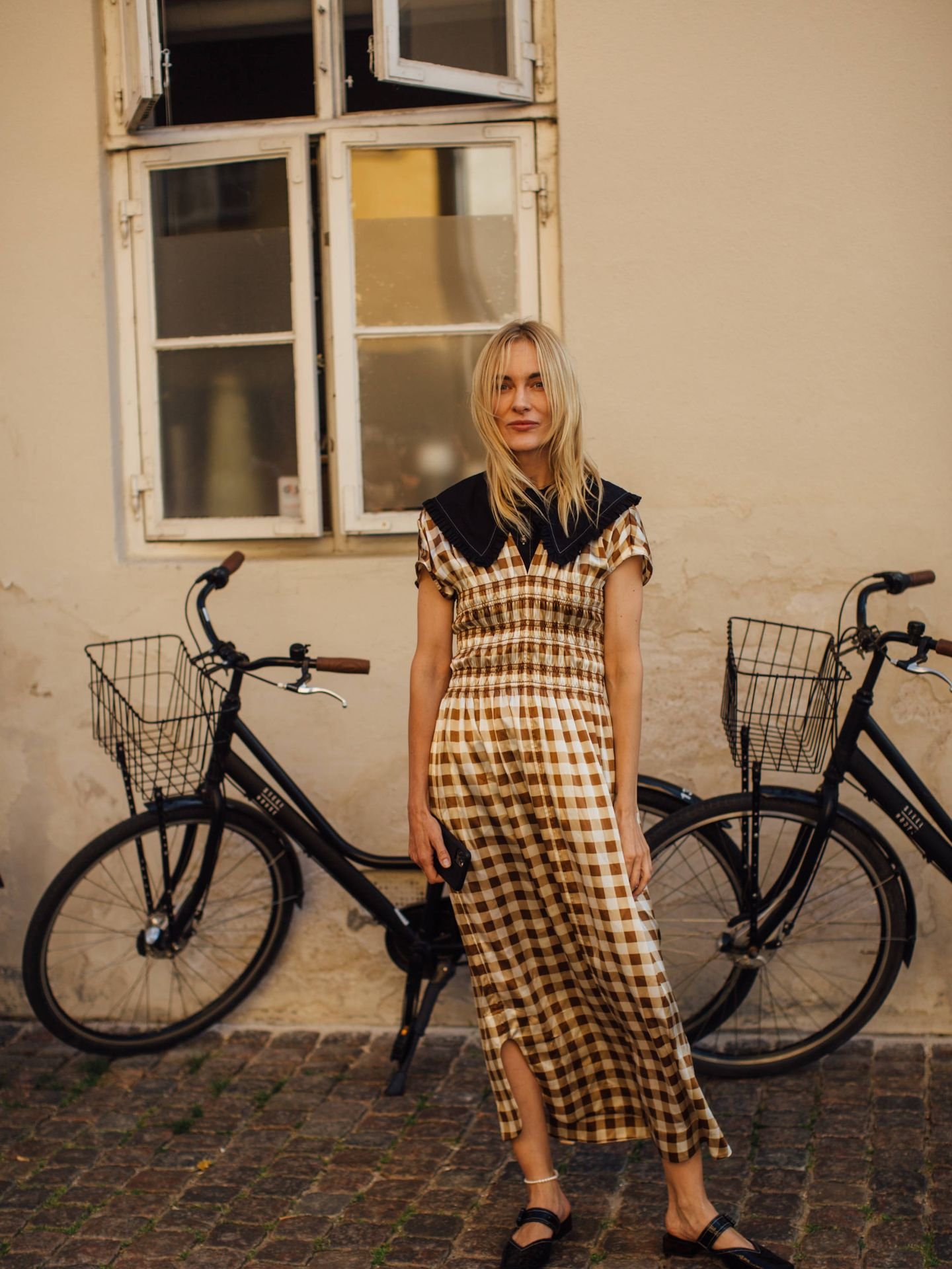 Una danesa con un vestido vichy. (Imaxtree)