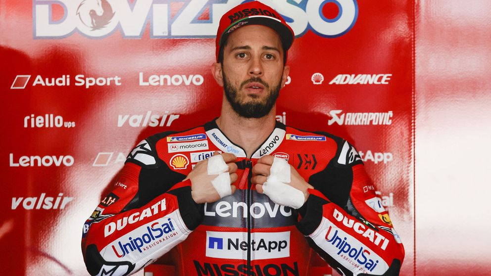 Dovizioso se fractura la clavícula en una carrera de motocross en el peor momento