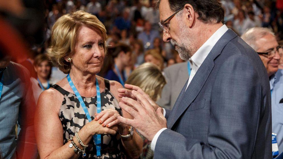 El 'recado' de Esperanza Aguirre a  Rajoy: Estoy en política para debatir