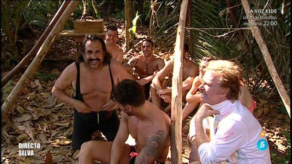 Foto: El bañador de Juan Miguel, protagonista de los memes de 'Superviventes'.