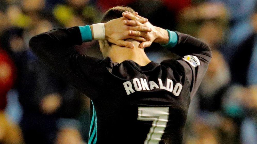 Foto: Cristiano Ronaldo, en el partido contra el Celta de Vigo. (EFE)