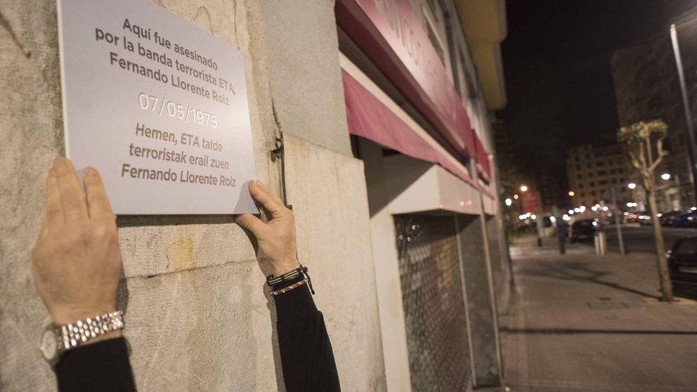 Covite desafía a Bilbao y San Sebastián con 62 placas de víctimas de ETA