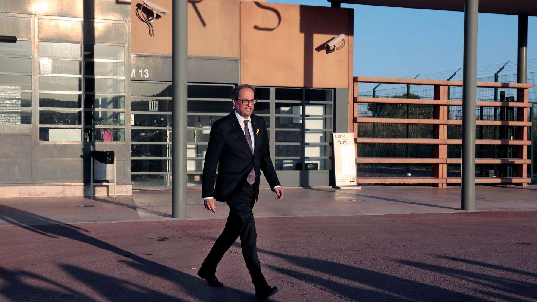 Quim Torra, a la salida de una de sus múltiples visitas al centro penitenciario Els Lledoners.