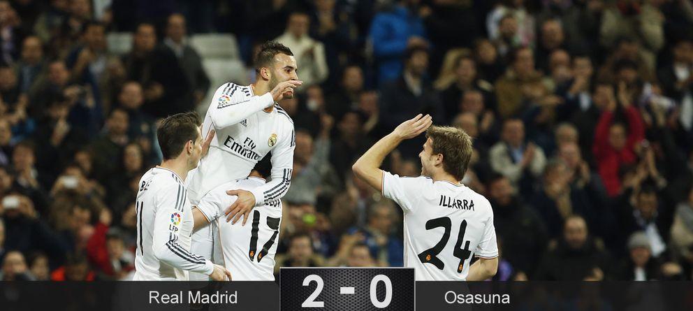 El Real Madrid coge ventaja ante Osasuna, pero sigue siendo un equipo sin chispa