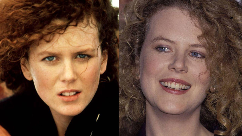 Nicole Kidman, en 1989 y 1992 (Cordon Press / Getty)