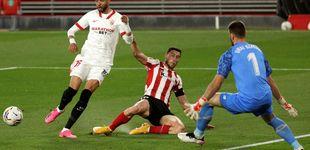 Post de El Sevilla se topa con un inflexible Unai Simón y pierde el tren de LaLiga (0-1)