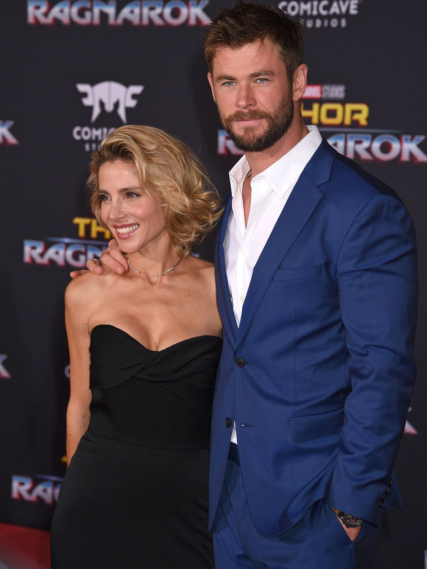 Chris Hemsworth y Elsa Pataky, en el estreno de la película 'Thor: Ragnarok'. (EFE)