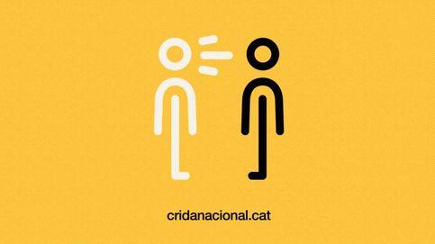 'Hombre gritando a otro hombre', el logo gratuito que usa la Crida en su promoción