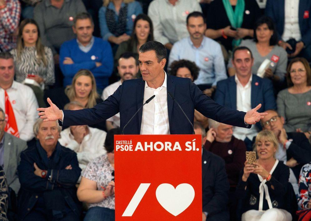 Foto: Pedro Sánchez, este 7 de noviembre durante su mitin con Ximo Puig en Castellón. (EFE)