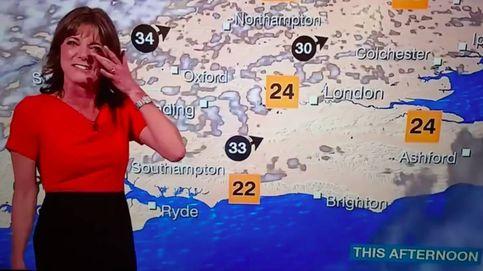 El irrefrenable ataque de risa de Louise Lear, una presentadora del tiempo de la BBC