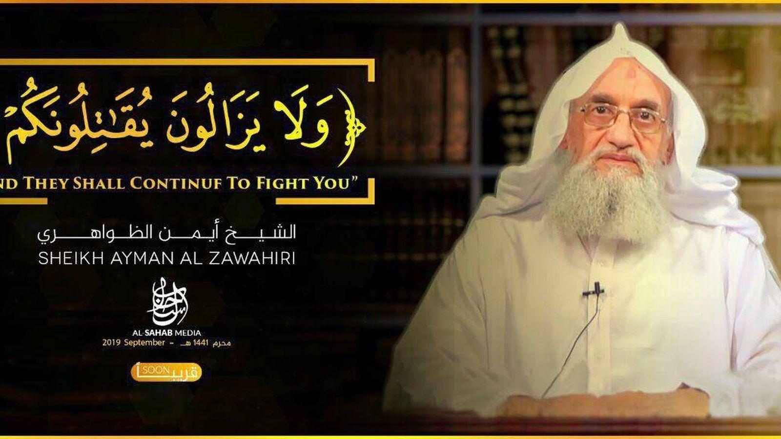 Foto: El líder del Al Qaeda, Ayman Al Zawahiri, en el vídeo.