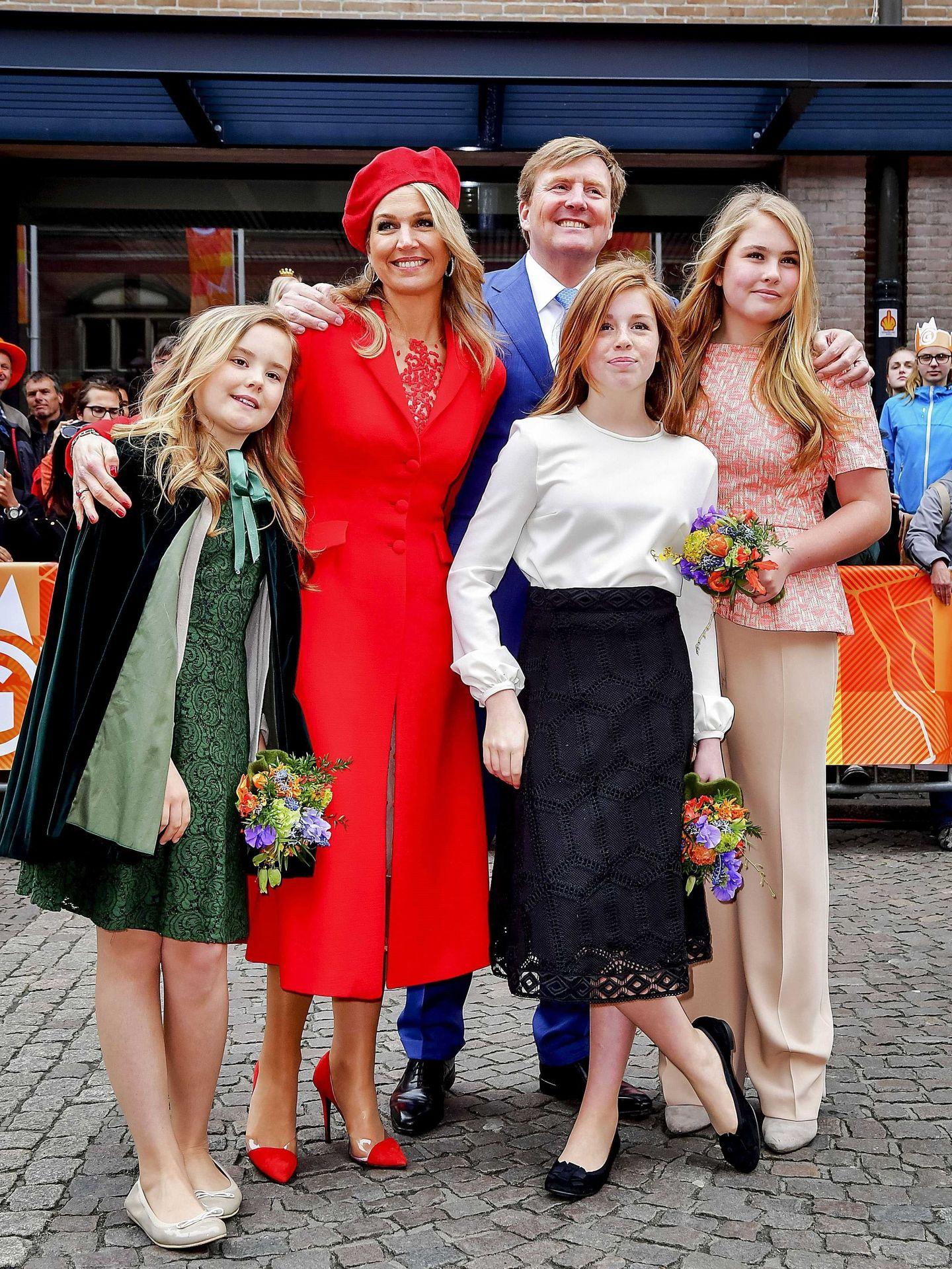 La familia real celebrando el Día del Rey de 2018. (EFE))