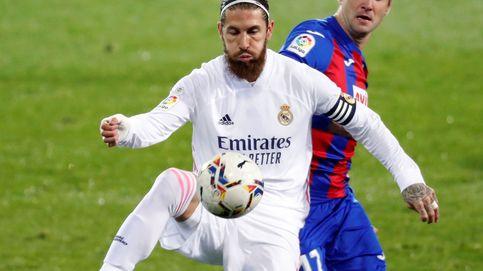 El Real Madrid suda sangre contra el Eibar con un polémico codo de Sergio Ramos (1-3)