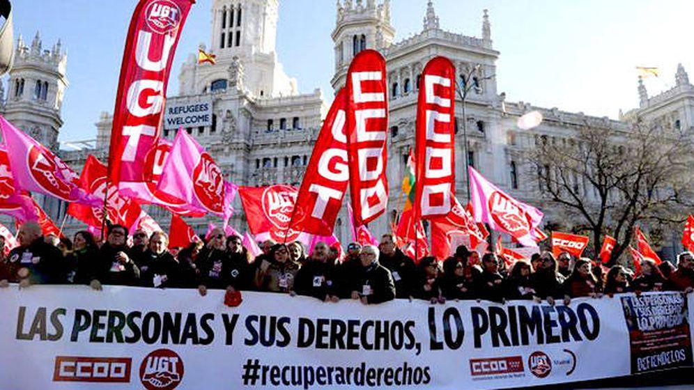 Foto: Manifestación en Madrid contra la reforma laboral. (EFE)