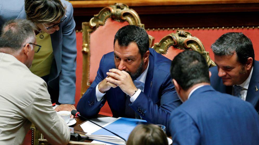 Foto: Matteo Salvini en el Parlamento italiano. (Reuters)