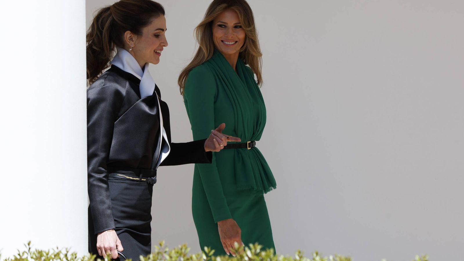 Foto: Rania de Jordania y Melania Trump. (Gtres)